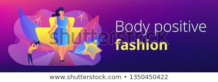 plus · size · lány · vektor · rajz · illusztráció · fitnessz · nő - stock fotó © rastudio