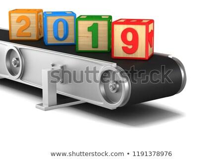2019 year. conveyor on white background. Isolated 3D illustratio Stock photo © ISerg