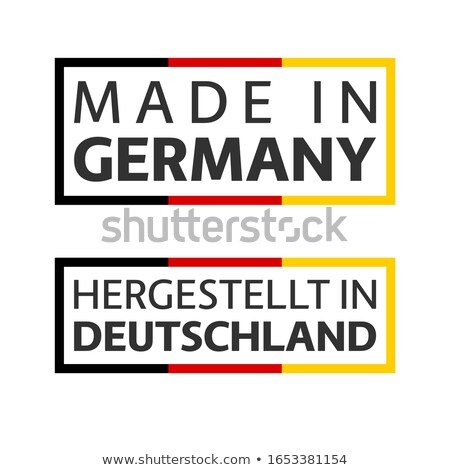 Quality mark Made in Germany, colored vector symbol with German tricolor isolated on white backgroun stock photo © kurkalukas