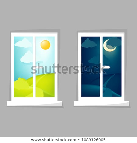 Set of day and night scenes Stock photo © bluering