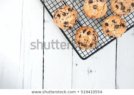 Stockfoto: Gezonde · cookies · witte · hout · top