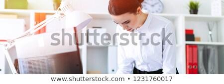 若い女の子 オフィス 立って 表 鉛筆 ストックフォト © Traimak