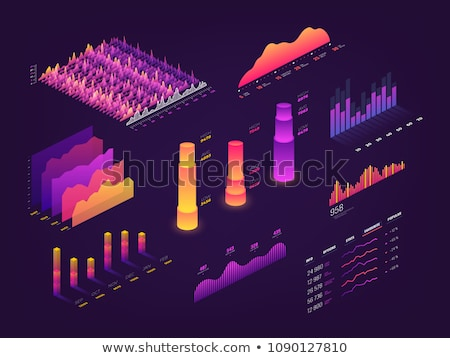 Business and technology - modern vector colorful isometric elements Stock photo © Decorwithme