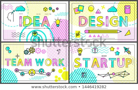 Idea and Start Up Promo Banners with Linear Icons Stock photo © robuart