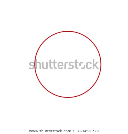 Stock photo: A Letter in Black-and-Red Color Painted Round Frame