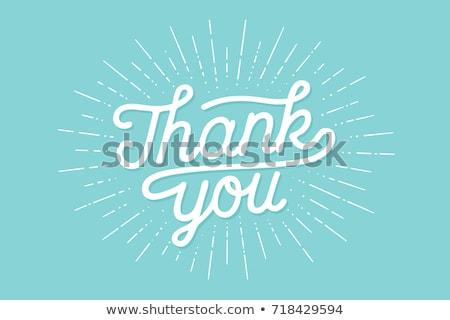 Köszönjük üdvözlőlap szalag poszter hálaadás nap Stock fotó © FoxysGraphic