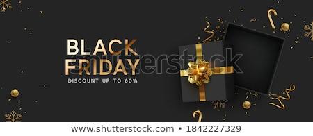 Black friday geschenk verkoop abstract ontwerp Stockfoto © SArts