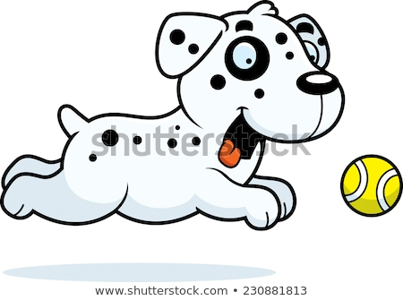 Cartoon Dalmatian Chasing Ball Stock photo © cthoman