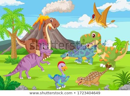 Cute ankylosaurus Stock photo © watcartoon