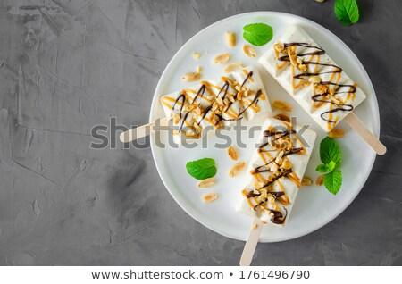 Witte vers mint bladeren papier achtergrond Stockfoto © Alex9500