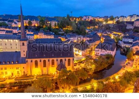 Stockfoto: Roeien · rivier · kasteel · toren · kerk · klooster