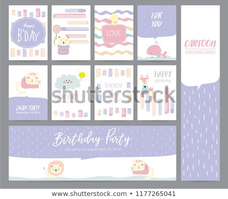 color paper template with little duck stock photo © colematt