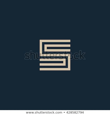Abstrato geométrico carta preto símbolo logotipo Foto stock © blaskorizov