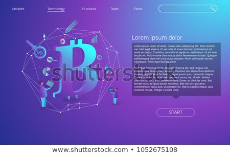 Isometric flat vector landing page template of financial transaction. Stock photo © TarikVision