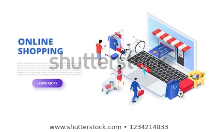 Shopping Web Pages People Buying Products in Shops Stock photo © robuart