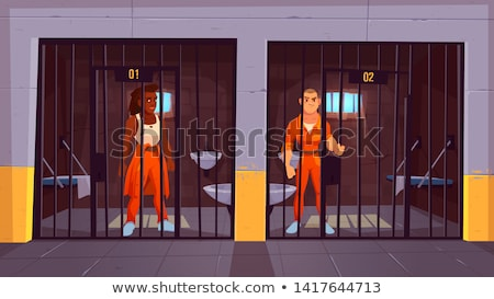 Caught offender in jail Stock photo © ra2studio