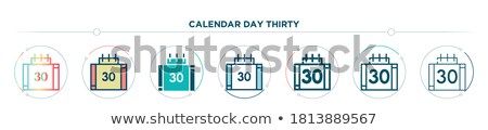 thirty first calendar day card vector illustration stock photo © robuart