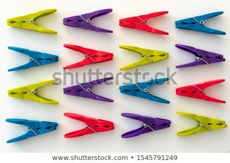 Clothespin on White Background Stock photo © make