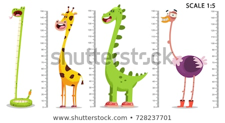 Hauteur mesure graphique girafe illustration art Photo stock © colematt