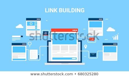 link · edifício · texto · caderno · secretária - foto stock © mazirama