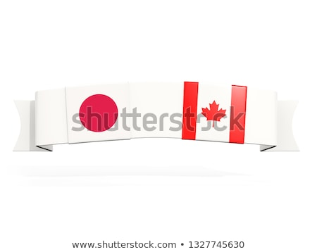 バナー 2 広場 フラグ カナダ 日本 ストックフォト © MikhailMishchenko