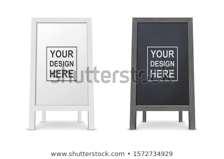vector set of sandwich board stock photo © olllikeballoon