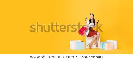 celular · comunicación · tarjeta · vector · personas - foto stock © rastudio