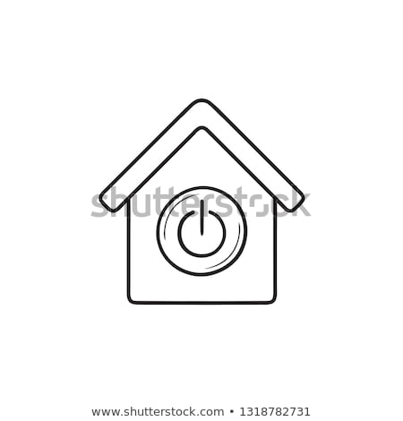 Stock fotó: Otthon · automatizálás · kézzel · rajzolt · skicc · firka · ikon