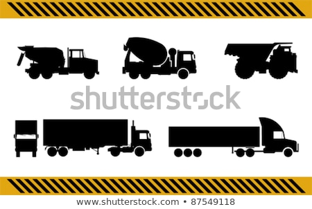 construction machines icons working devices set stock photo © robuart