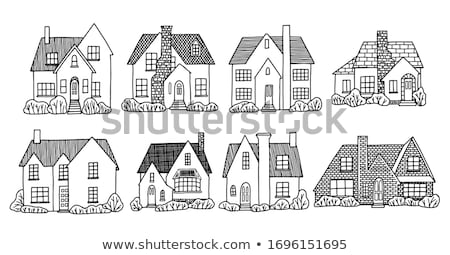 Stock photo: Hand Drawn Country House Chimney Vector Isolated
