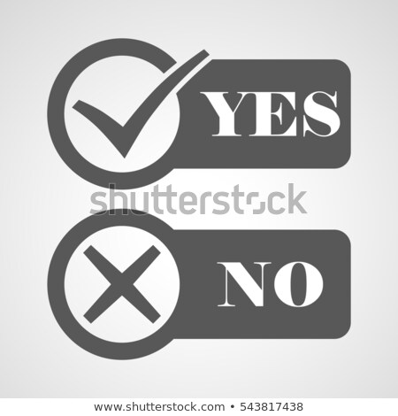 Yes and No Button Icons, vector illustration isolated on grey background. Stock photo © kyryloff