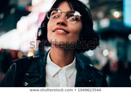 bastante · elegante · mujer · maravilloso · sonrisa · retrato - foto stock © studiolucky