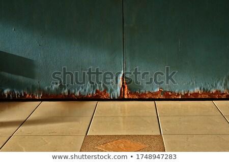 Houten deur slechte voorwaarde illustratie achtergrond Stockfoto © colematt
