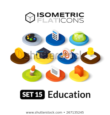 школы цвета изометрический иконки образование науки Сток-фото © netkov1