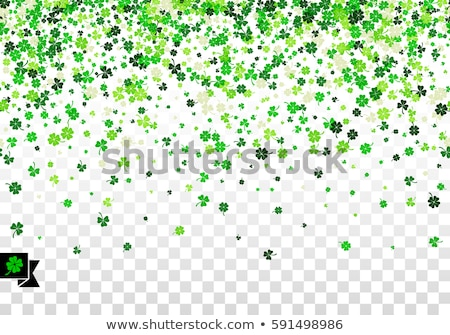 Seamless pattern illustration with clover with four leaves as a symbol of luck stock photo © Natali_Brill