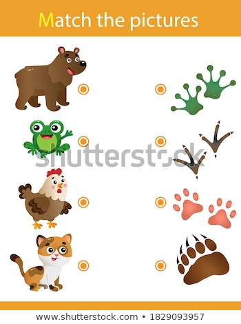 Educational children game. Logic game for kids. Matching game by Stock photo © anastasiya_popov