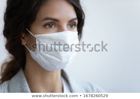 Blue clothing girl_sickness Stock photo © toyotoyo