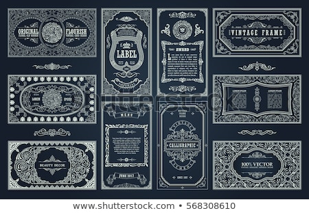 Vintage flourish ornamented pattern Vector. Victorian Royal text Stock photo © frimufilms