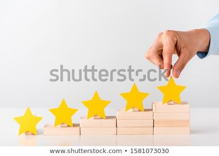Yellow Stars On Wooden Blocks Stock photo © AndreyPopov