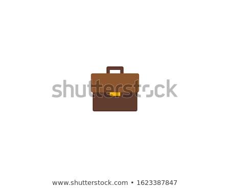Cuero maletín vector marrón caso aislado Foto stock © robuart