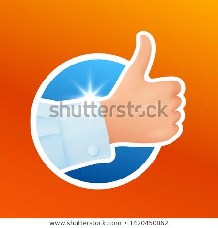 como · símbolo · verde · azul · botón - foto stock © marysan