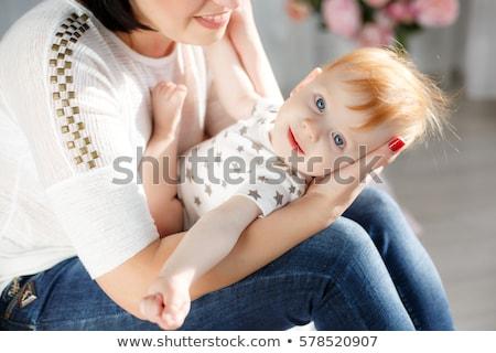 Retrato hermosa madre mes edad bebé Foto stock © Lopolo