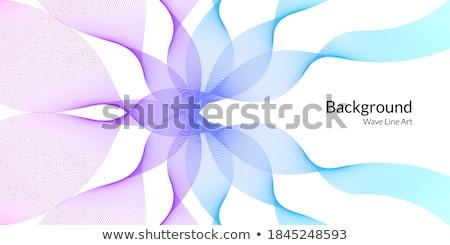 Blauw golvend vorm business abstract ontwerp Stockfoto © SArts