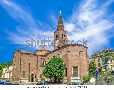 Milan ver igreja blue sky Itália edifício Foto stock © vapi