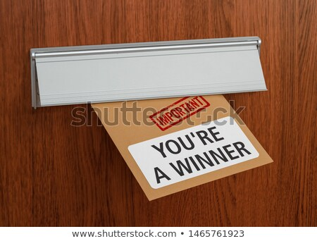 A letter labeled Prize notification in a mail slot Stock photo © Zerbor