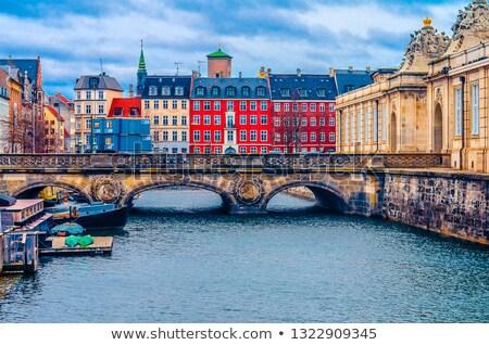 Márvány híd Koppenhága palota Dánia víz Stock fotó © borisb17