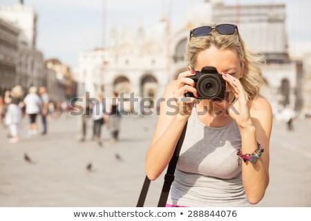 Menina foto câmera Veneza little girl Foto stock © AndreyPopov