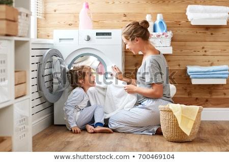 мало ребенка стиральная машина дети ребенка помочь Сток-фото © Lopolo