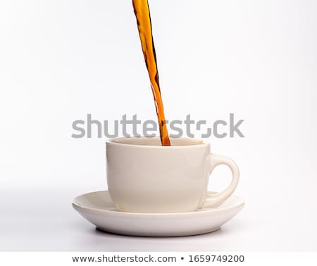 Coffee Poured in Glass and Cup, Latte Beverage Stock photo © robuart