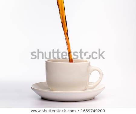 コーヒー ガラス カップ 務め コンテナ ストックフォト © robuart